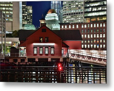 Bean Town Tea Party Museum Metal Print by Frozen in Time Fine Art Photography