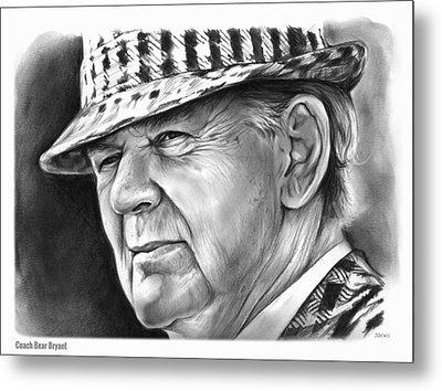Bear Bryant Metal Print by Greg Joens