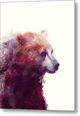 Bear // Calm Metal Print by Amy Hamilton