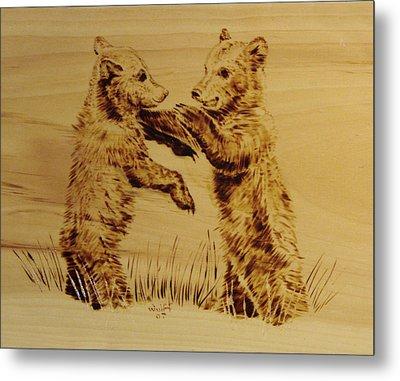 Bear Cubs Metal Print by Chris Wulff