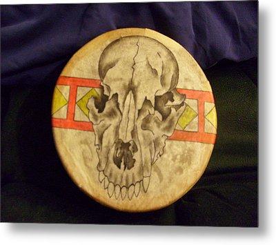 Bear Drum Metal Print by Angelina Benson