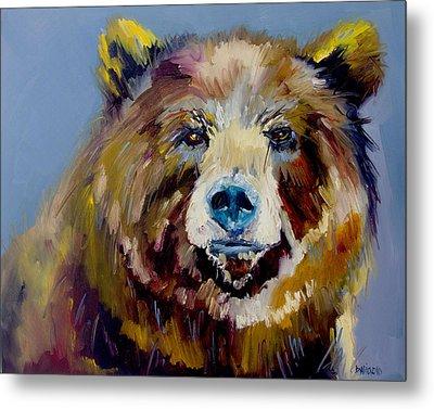 Bear Exposed Metal Print