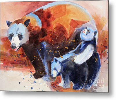 Bear Family Outing Metal Print by Kathy Braud