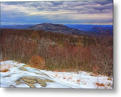 Bear Mountain And Hudson River Metal Print by Raymond Salani III