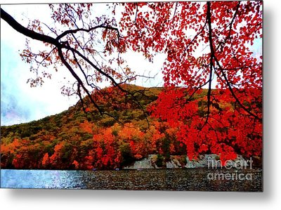 Metal Print featuring the photograph Bear Mountain Hessian Lake Autumn by Janine Riley