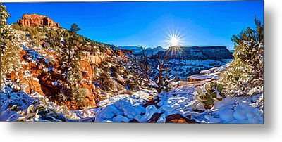 Metal Print featuring the photograph Bear Mountain Winter 1 by ABeautifulSky Photography