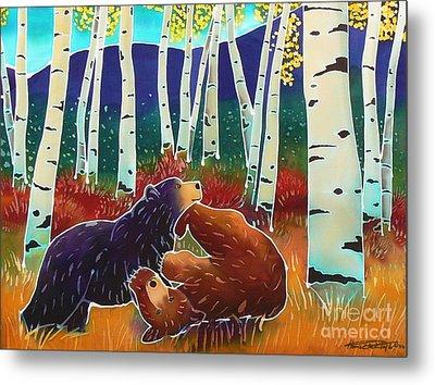 Bear Play Metal Print by Harriet Peck Taylor