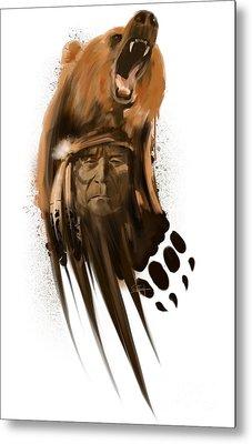 Bear Spirit  Metal Print by Sassan Filsoof