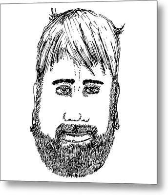 Bearded Man Metal Print by Karl Addison