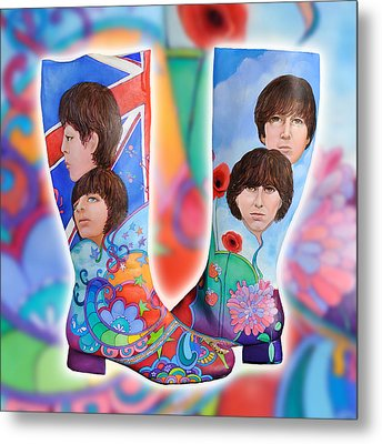 Beatle Boots Metal Print by Mary Johnson