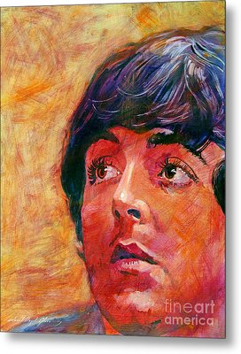 Beatle Paul Metal Print by David Lloyd Glover