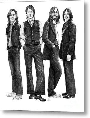 Beatles Drawing Metal Print by Murphy Elliott