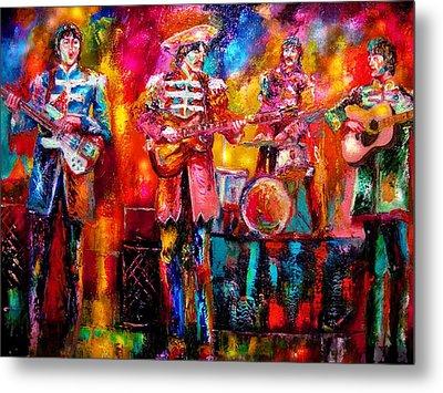 Beatles Hello Goodbye Metal Print by Leland Castro