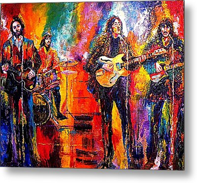 Beatles Last Concert On The Roof Metal Print by Leland Castro