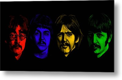 Beatles No 9 Metal Print by Brian Broadway