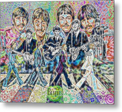 Beatles Tapestry Metal Print