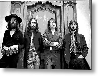 Beatles Together For Last Time Metal Print