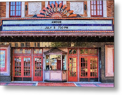 Metal Print featuring the digital art Beaumont Jefferson Theater by JC Findley