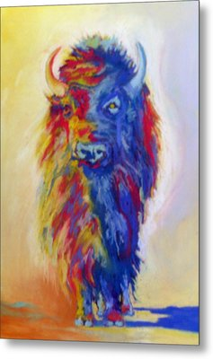 Metal Print featuring the pastel Beaus Buffalo by Pat Crowther