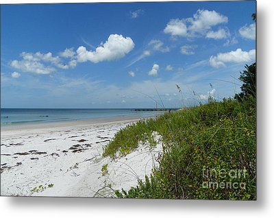 Metal Print featuring the photograph Beautiful Beach Day by Carol  Bradley