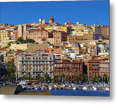 Beautiful Cagliari Metal Print by Sue Melvin