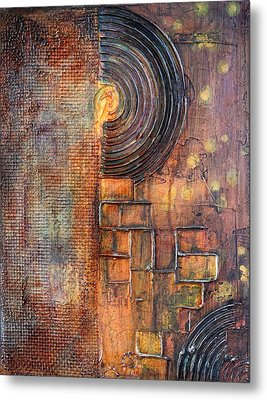 Beautiful Corrosion Metal Print by Theresa Marie Johnson