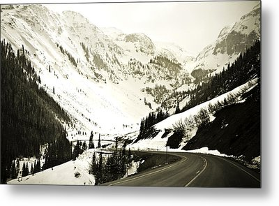 Beautiful Curving Drive Through The Mountains Metal Print by Marilyn Hunt