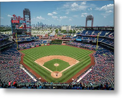 Beautiful Day For A Ballgame In Philly Metal Print