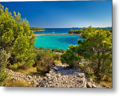 Beautiful Emerald Beach On Murter Island Metal Print