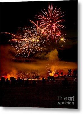 Beautiful Fireworks Metal Print