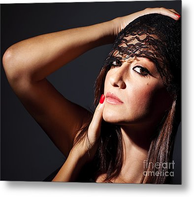 Beautiful Glamor Female Portrait Metal Print