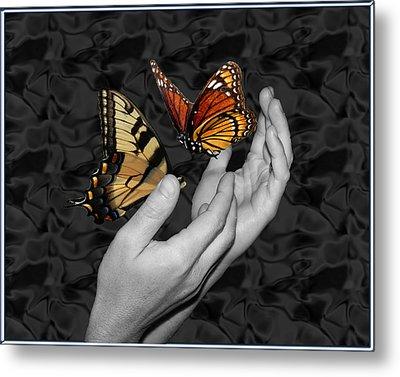 Beautiful Hands Two Metal Print by Amanda Vouglas
