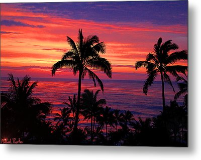 Beautiful Hawaiian Sunset Metal Print by Michael Rucker