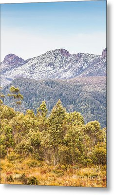 Beautiful Landscape With Partly Snowed Mountain  Metal Print by Jorgo Photography - Wall Art Gallery