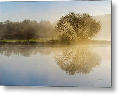 Metal Print featuring the photograph Beautiful Misty River Sunrise by Christina Rollo