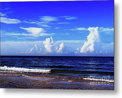 Metal Print featuring the photograph Beautiful Ocean View by Gary Wonning