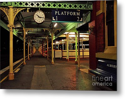 Metal Print featuring the photograph Beautiful Old Albury Station By Kaye Menner by Kaye Menner