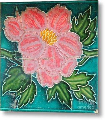 Beautiful Old Ceramic Tile Metal Print