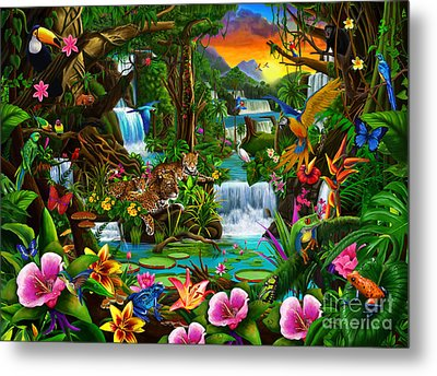 Beautiful Rainforest Metal Print by Gerald Newton