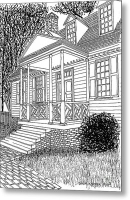 Beautiful Restored Home, Colonial District, City Of Williamsburg Virginia Metal Print by Dawn Boyer