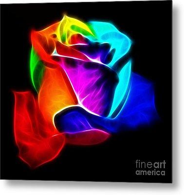 Beautiful Rose Of Colors Metal Print