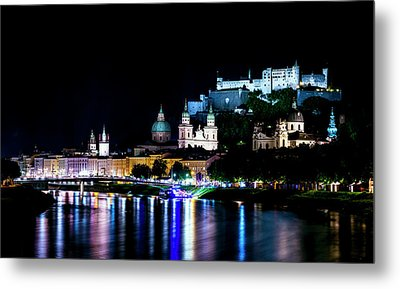 Metal Print featuring the photograph Beautiful Salzburg by David Morefield