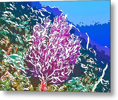 Beautiful Sea Fan Coral 2 Metal Print by Lanjee Chee