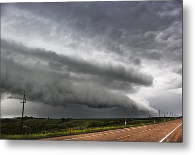 Metal Print featuring the photograph Beautiful Shelf Cloud by Ryan Crouse