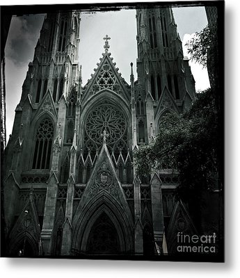 Beautiful St Patricks Cathedral Metal Print by Miriam Danar
