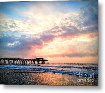 Beautiful Sunrise In Myrtle Beach South Carolina Usa Metal Print