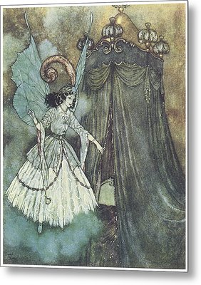 Beauty And The Beast Metal Print by Edmund Dulac