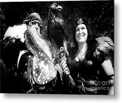 Metal Print featuring the photograph Beauty And The Beasts by Bob Christopher