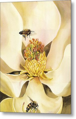 Beauty And The Bees Metal Print by Alfred Ng