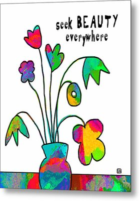 Metal Print featuring the painting Beauty Everywhere by Lisa Weedn